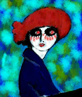 Van Dongen Painting - Big Eyes by Jean Clement  Pierre
