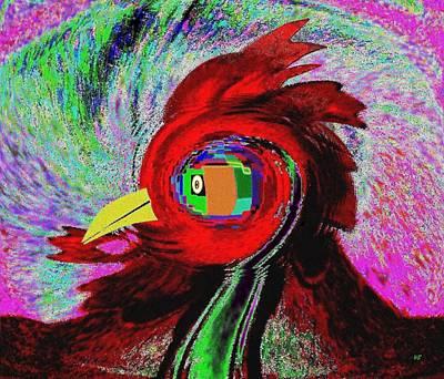 Attitude Digital Art - Big Fat Red Hen by Will Borden