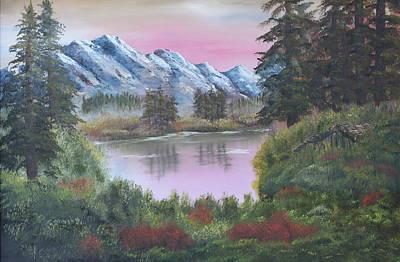 Big Fir Lake Art Print by Lou Magoncia