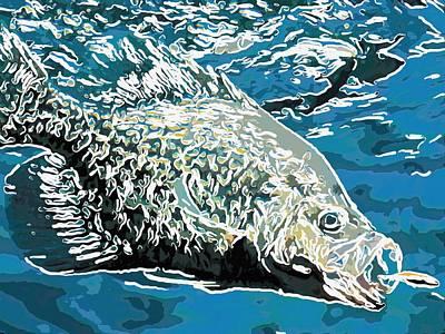 Big Fish Eats Little Fish Art Print