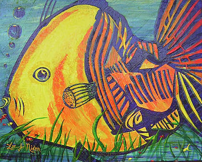Painting - Big Fish In A Small Pond by Lee Nixon