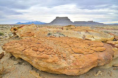 Photograph - Big Flat Factory Butte Rock by Ray Mathis