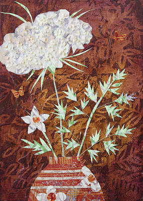 Mixed Media - Big Flower In Little Vase  by Janyce Boynton