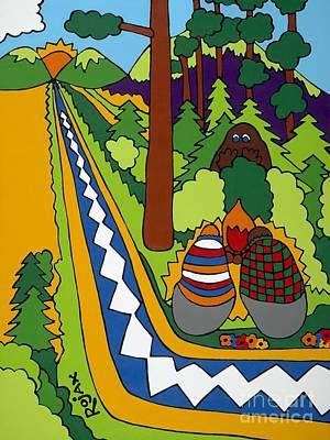 Painting - Big Foot by Rojax Art