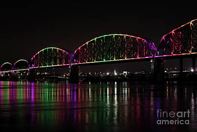 Photograph - Big Four Bridge 2201 by Andrea Silies