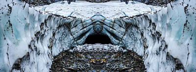 Glacier Reflections Photograph - Big Four Ice Caves Reflection by Pelo Blanco Photo