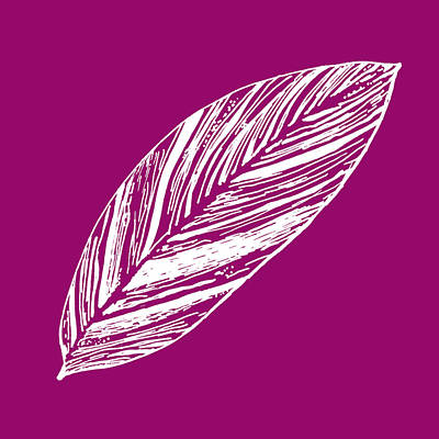 Digital Art - Big Ginger Leaf - Magenta by Karen Dyson
