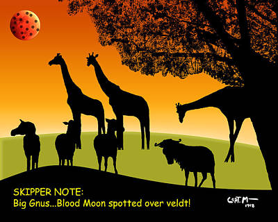 Photograph - Big Gnus... Blood Moon Spotted by Mickey Wright