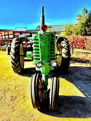 Photograph - Big Green Tractor by Russell Keating