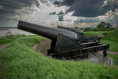 Photograph - Big Guns - Ft Mchenry by Brian Wallace