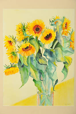 Painting - Big Happy Sunflowers by Jenny anne Morrison