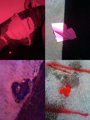 Grid Of Heart Photograph - Big Hearts Pink Red Purple by Boy Sees Hearts