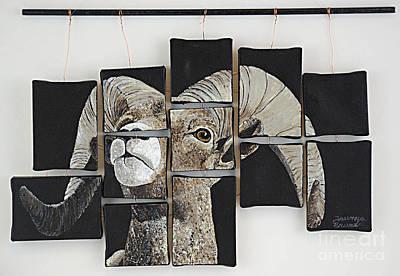 Big Horn Fragments Art Print by Taunya Bruns
