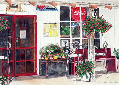 Painting - Big Horn Mercantile by Jean Sumption