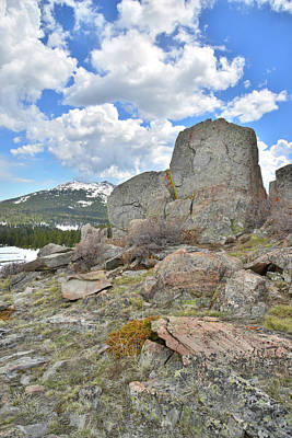 Photograph - Big Horn Pass Rock Croppings by Ray Mathis