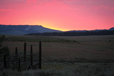 Photograph - Big Horn Sunrise by Diane Bohna