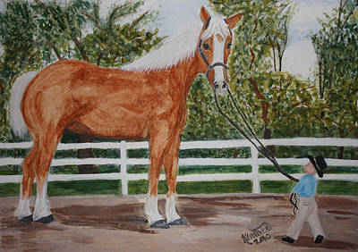 Painting - Big Horse  Little Fella  by Kimber  Butler