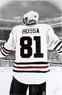 Chicago Blackhawks Drawing - Big Hoss by Jonathan Moore