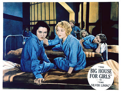Big House For Girls Aka The Silver Art Print by Everett