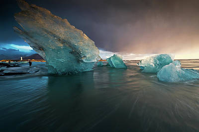 Photograph - Big Ice by Allen Biedrzycki