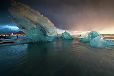 Photograph - Big Ice by Allen Biedrzycki