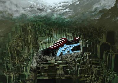 Big In Japan Godzilla Sneaker Onitsuka Tiger Tokyo Art Print by Alexander Fechner