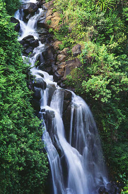 Photograph - Big Island Waterfall by William Waterfall - Printscapes