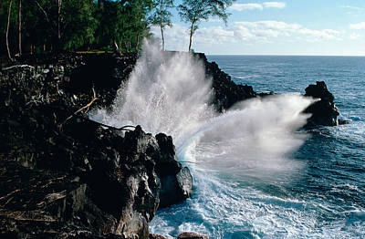 Photograph - Big Island Waves by Gary Cloud