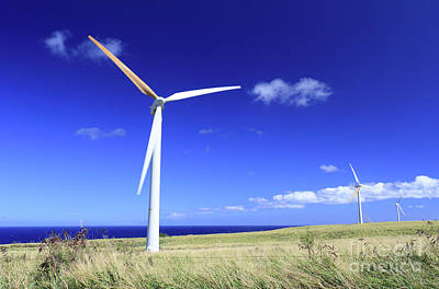 Photograph - Big Island Windmills  by Mary Haber