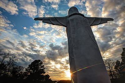 Photograph - Big Jesus - Christ Of The Ozarks - Arkansas by Gregory Ballos