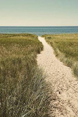 Photograph - Big Lake Beach Path by Michelle Calkins