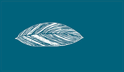 Digital Art - Big Leaf - Crystal Teal by Karen Dyson