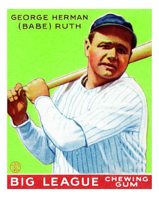 Photograph - Big League Gum Babe Ruth by Rospotte Photography