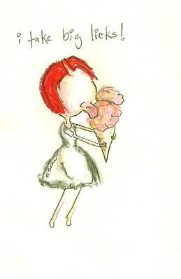 Little Girls98 Drawing - Big Licks by Ricky Sencion