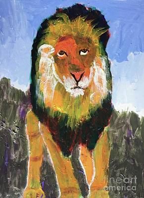 Painting - Big Lion King by Donald J Ryker III