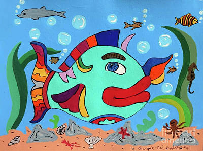 Painting - Big Lips Mama by Margie Lee Rodriguez