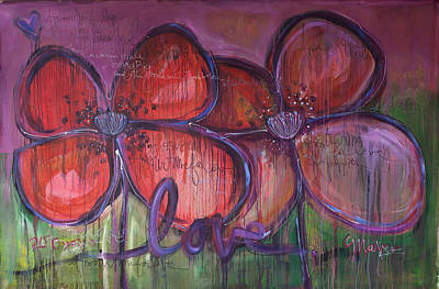 Painting - Big Love Poppies by Laurie Maves ART