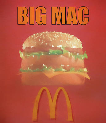 Mixed Media - Big Mac Poster by Dan Sproul
