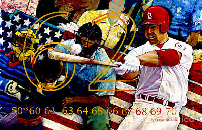 Baseball Hall Of Fame Painting - Big Mac by Sean OConnor