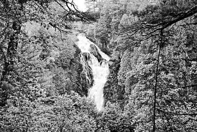Photograph - Big Manitou Falls Bnw by Bonfire Photography