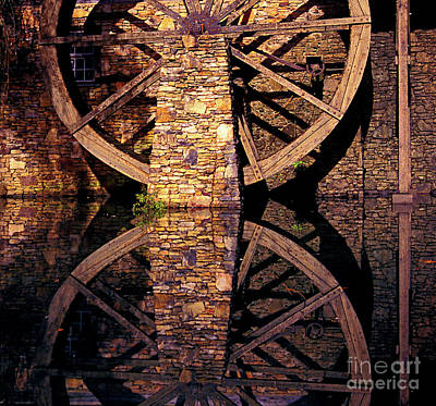 Photograph - Big Mill Wheel by Paul W Faust - Impressions of Light