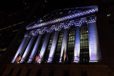 Photograph - Big Money - New York Stock Exchange In Purple  by Georgia Mizuleva