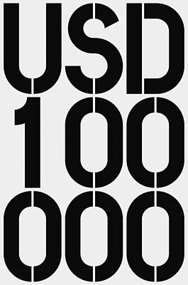 100 Painting - Big Money Usd 100 000 by Three Dots