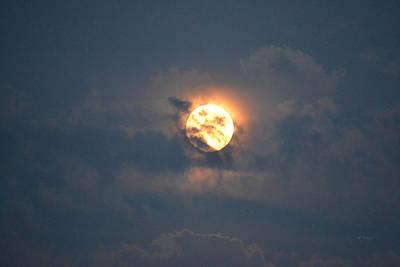 Photograph - Big Moon 111316 A by rd Erickson