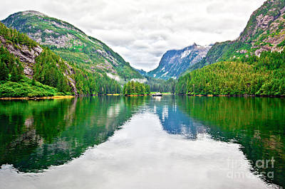 Photograph - Big Mountain Reflections In Patterson Bay Alaska by Christy Woodrow