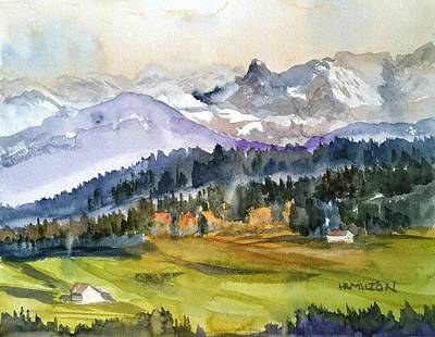 Painting - Big Mountain Sunset by Larry Hamilton