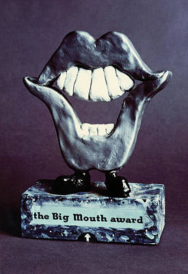 Claymation Sculpture - Big Mouth Award by Sabin Ankli