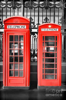 Phone Box Photograph - Big 'n' Small by Rod McLean