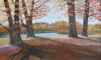Big Oaks In Fall Art Print by Werner Pipkorn