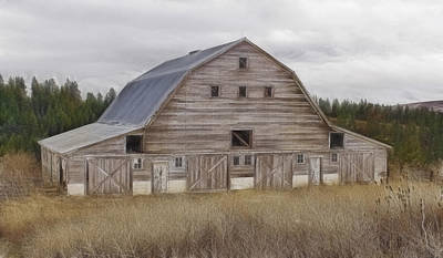 Photograph - Big Old Barn by Wes and Dotty Weber
